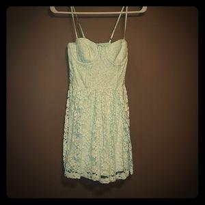 Light blue corset sun dress